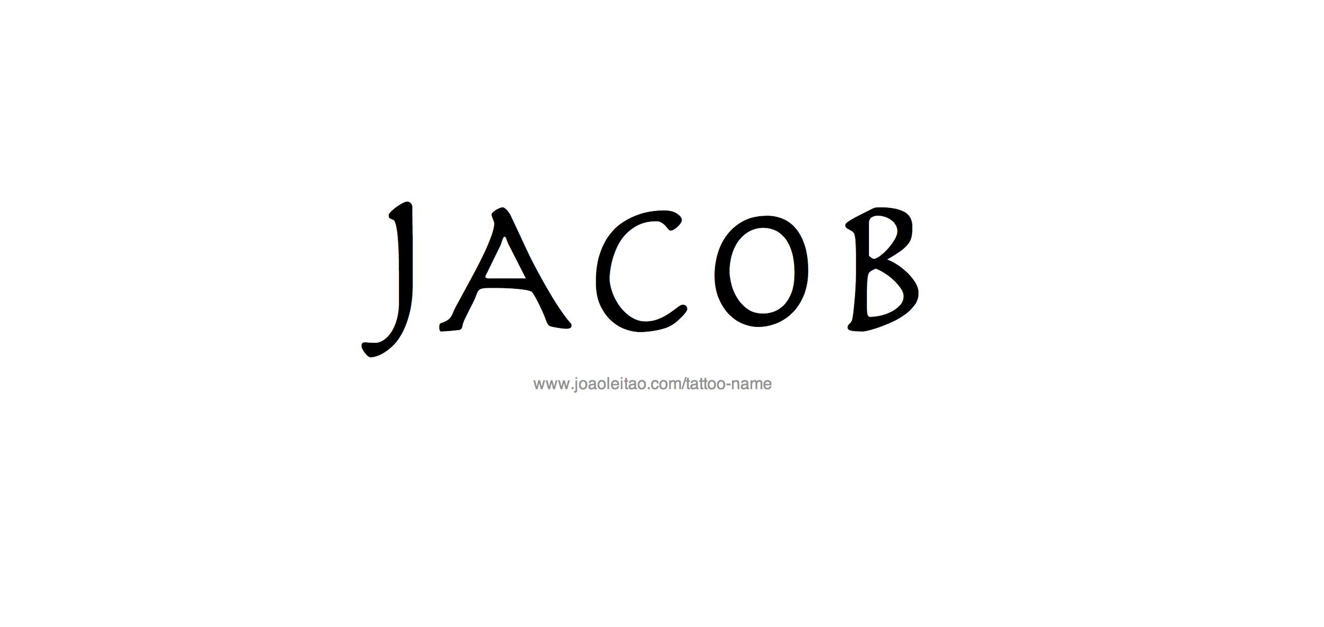 Tattoo Design Name Jacob