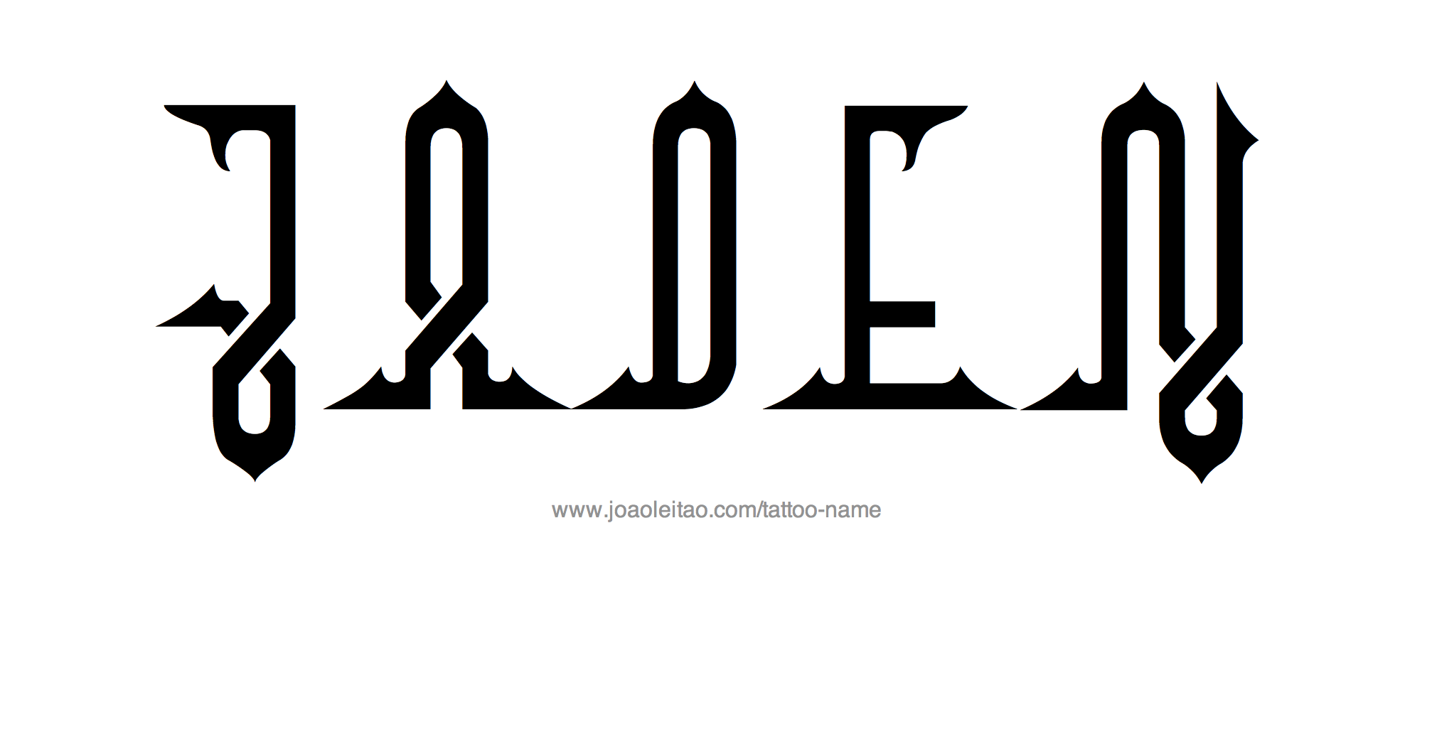 Tattoo Design Name Jaden