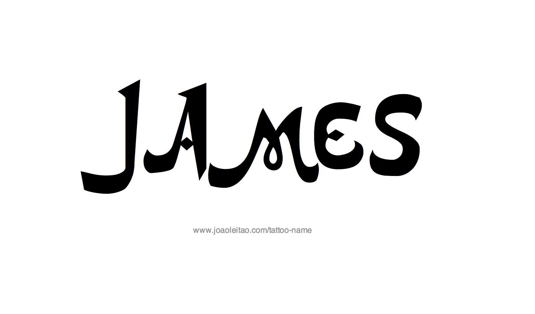 Tattoo Design Name James