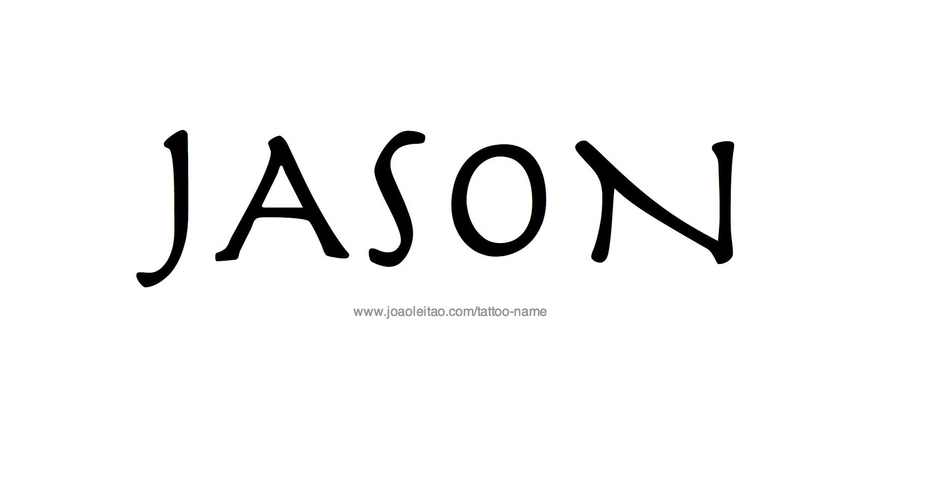 Tattoo Design Name Jason