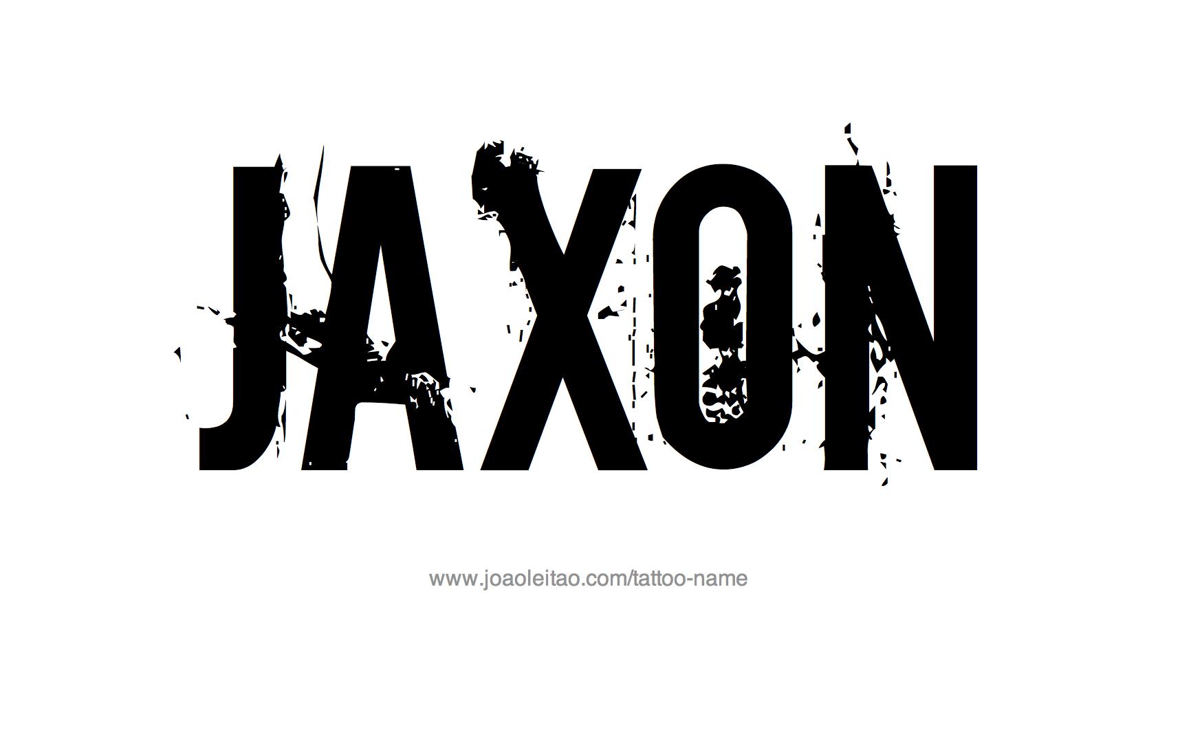 Tattoo Design Name Jaxon