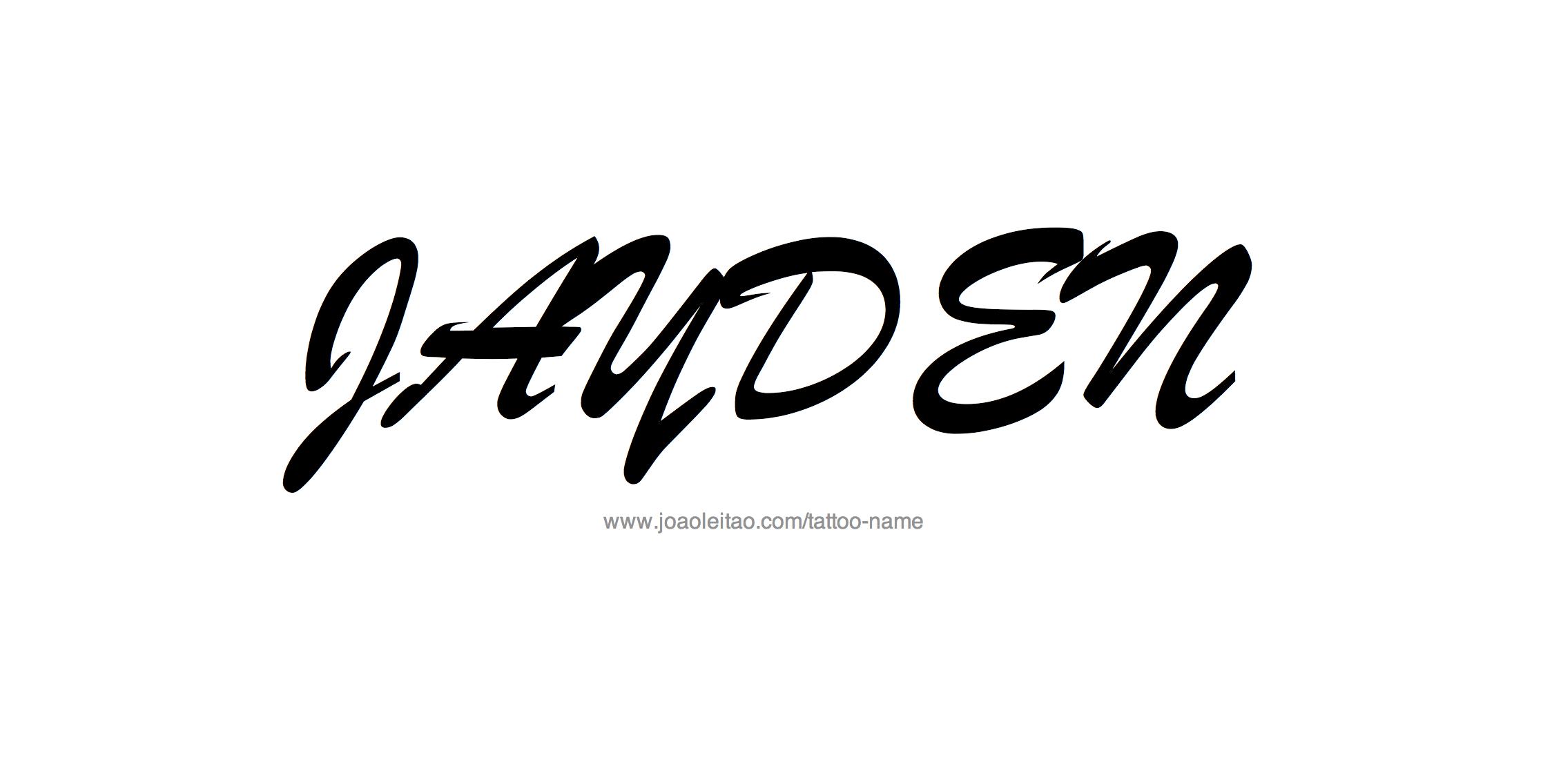 Tattoo Design Name Jayden