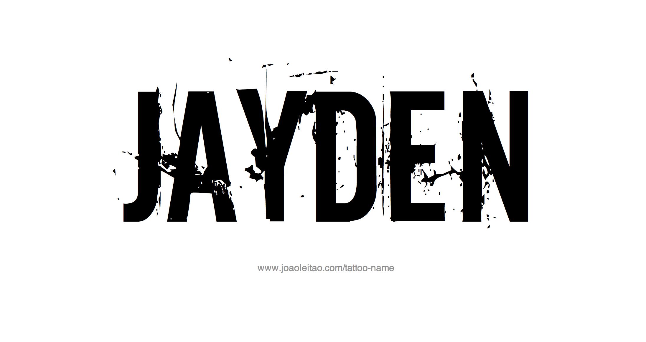 Name: Jayden Name Tattoo Designs