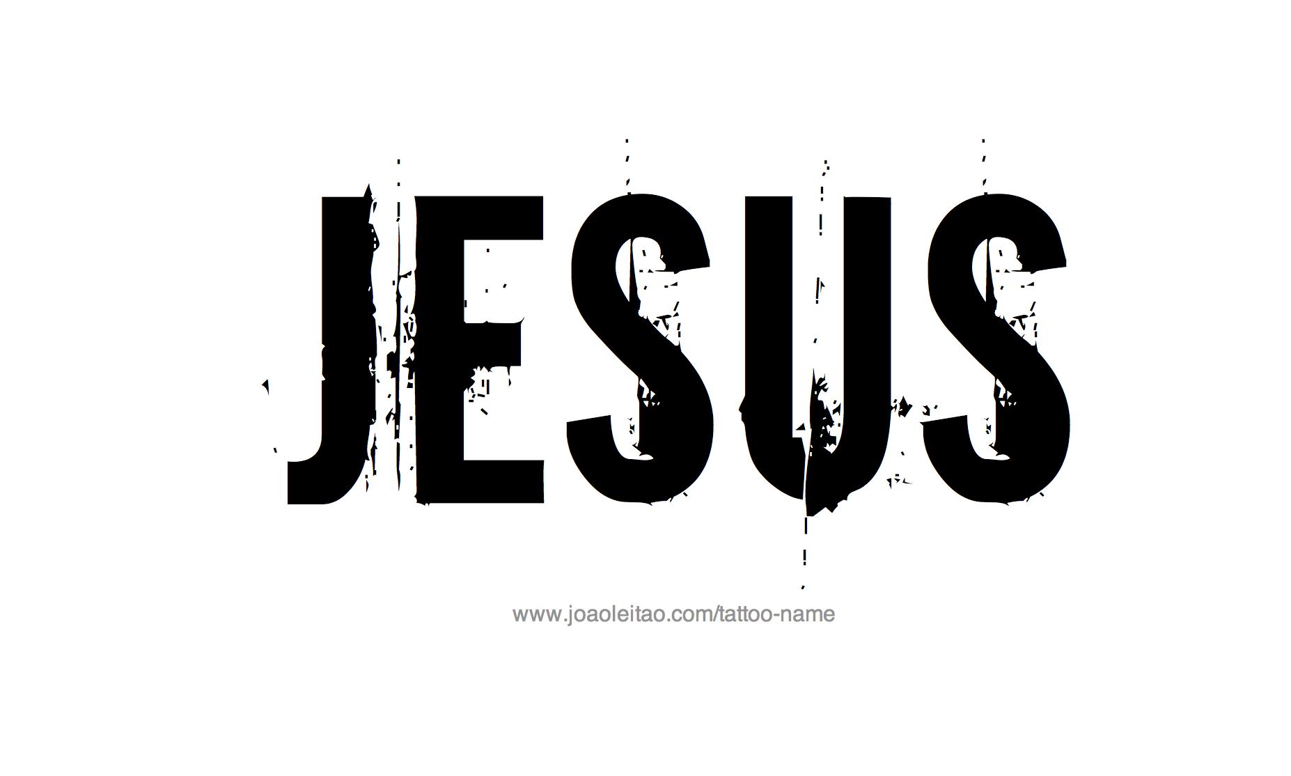 Tattoo Design Name Jesus