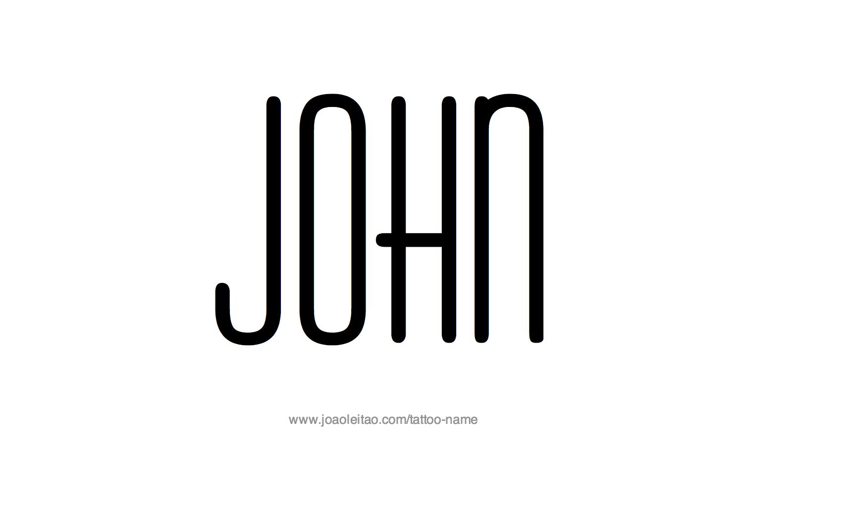 Tattoo Design Name John