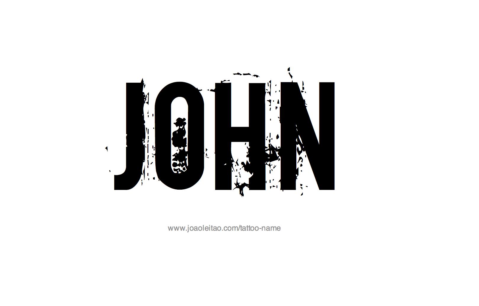 Name: John Name Tattoo Designs