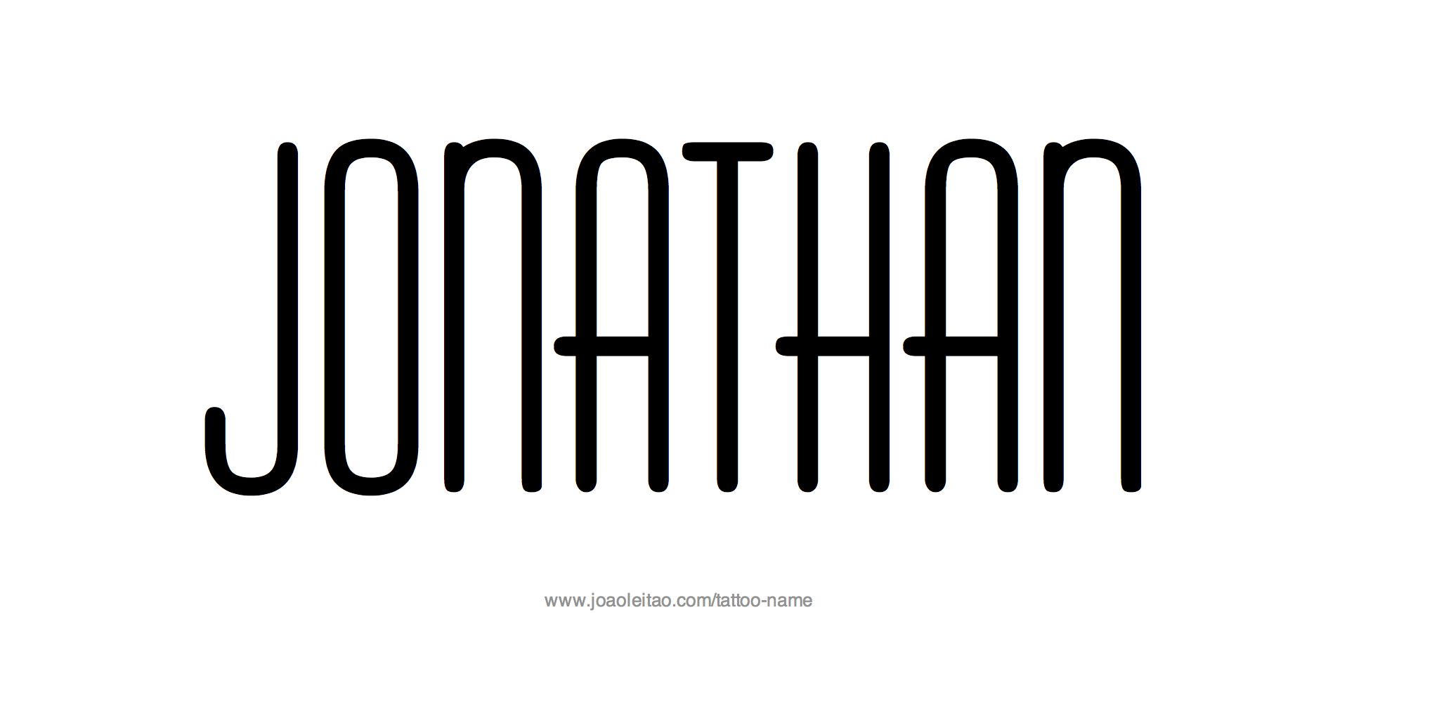 Tattoo Design Name Jonathan