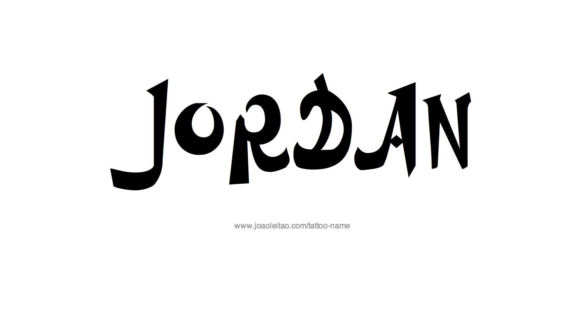 Tattoo Design Name Jordan