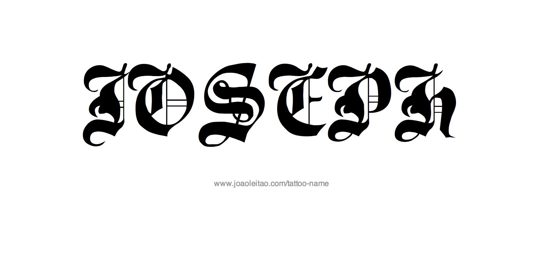 Tattoo Design Name Joseph