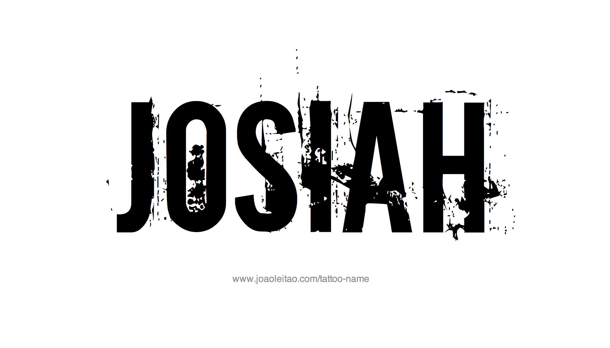 Tattoo Design Name Josiah