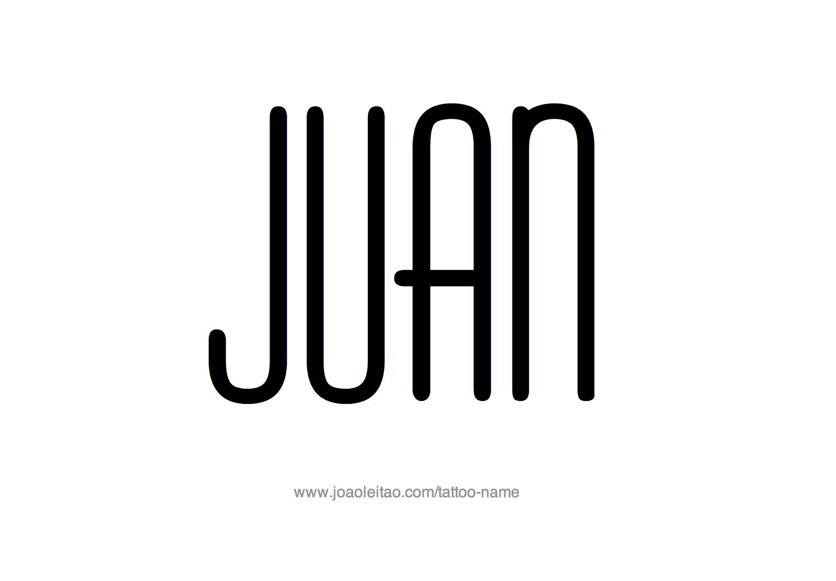 Tattoo Design Name Juan
