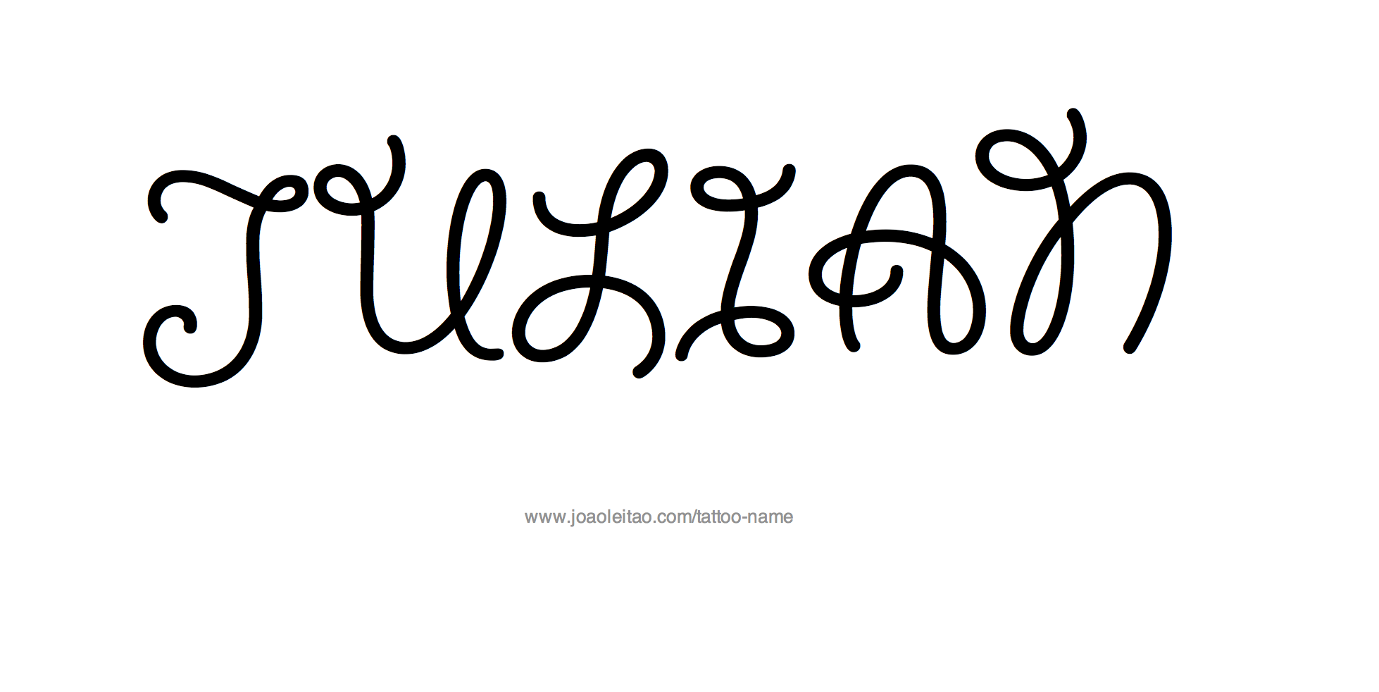 Tattoo Design Name Julian