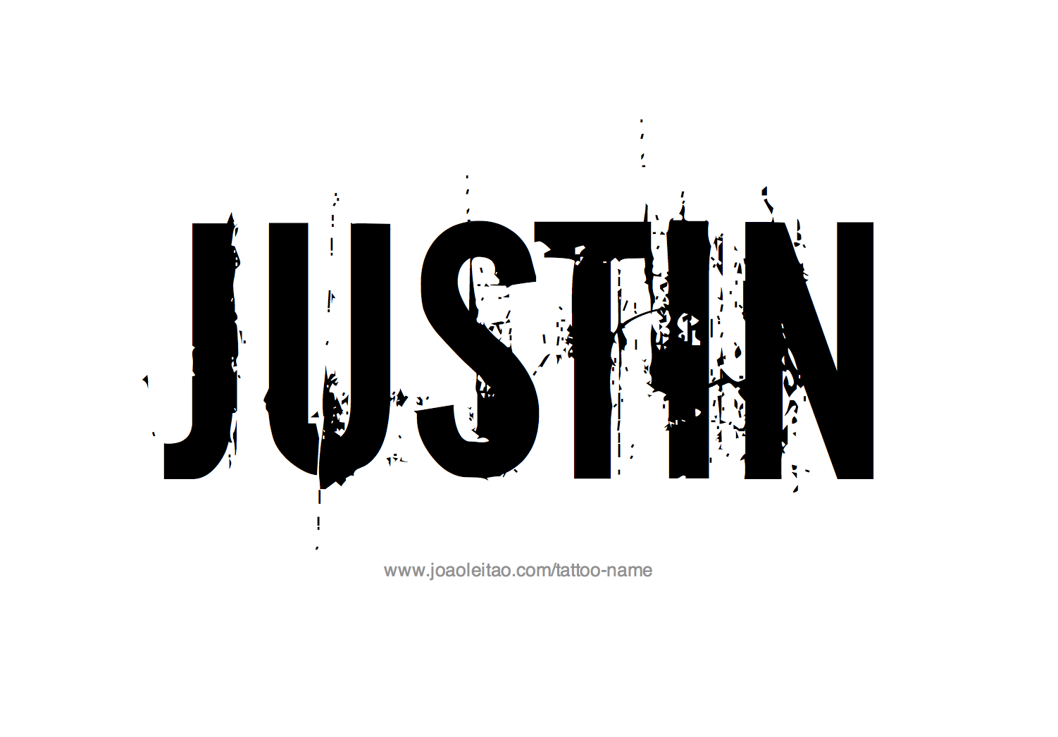 Name: Justin Name Tattoo Designs