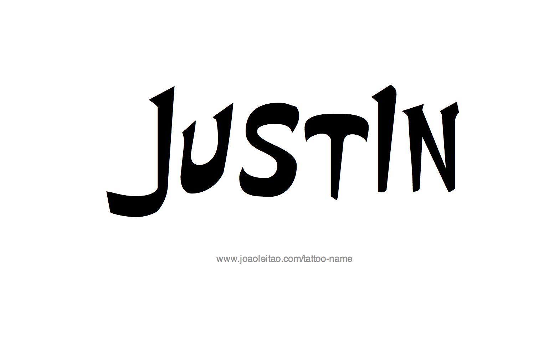 Tattoo Design Name Justin