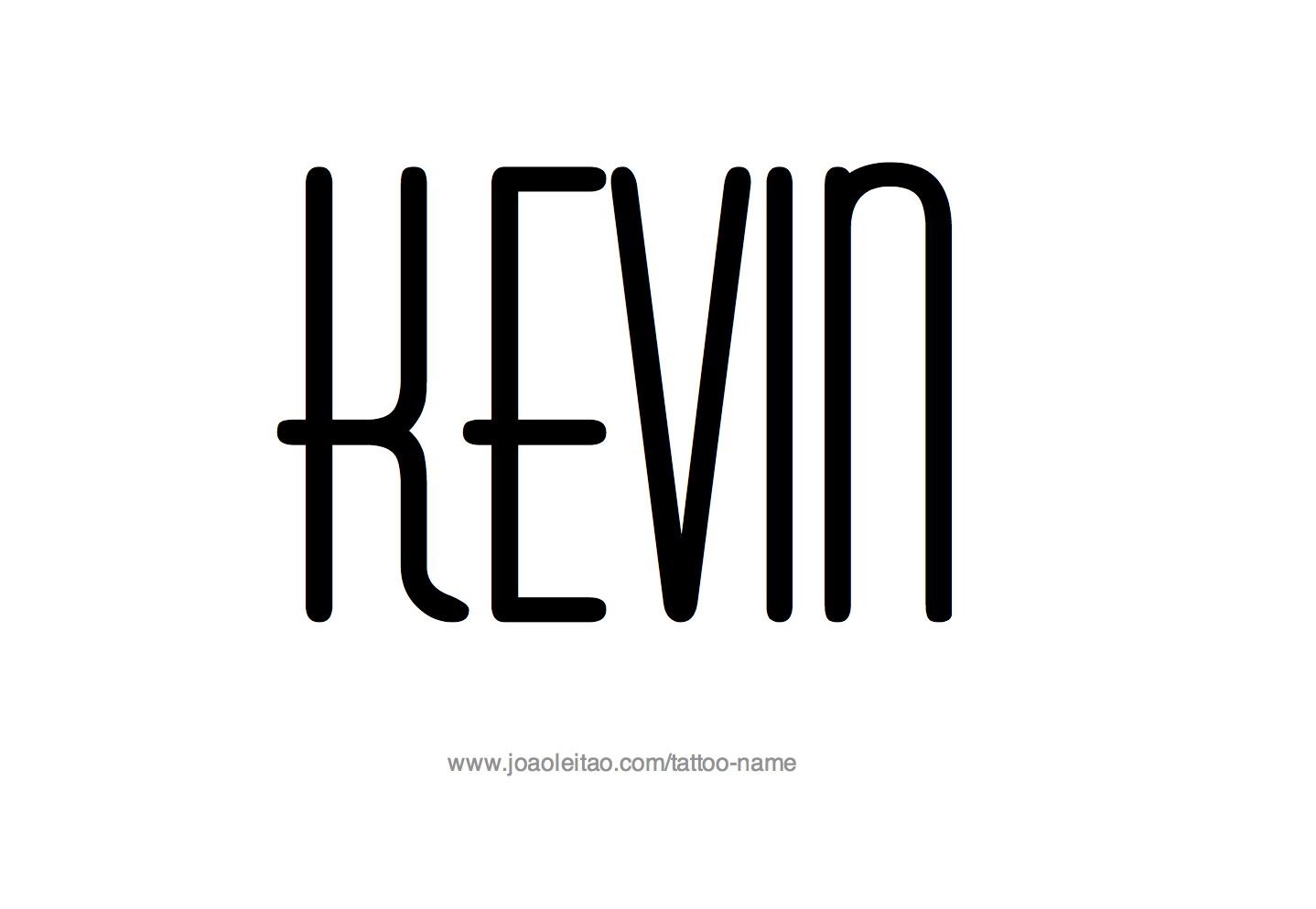 Tattoo Design Name Kevin