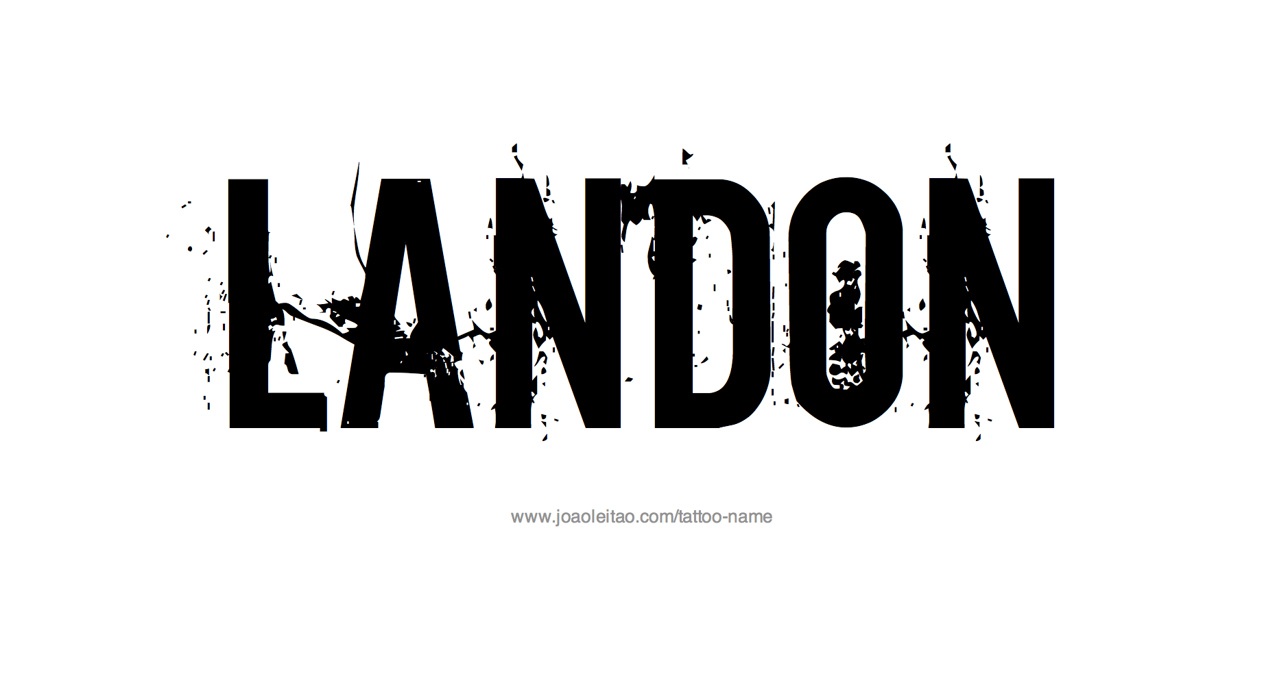 Tattoo Design Name Landon