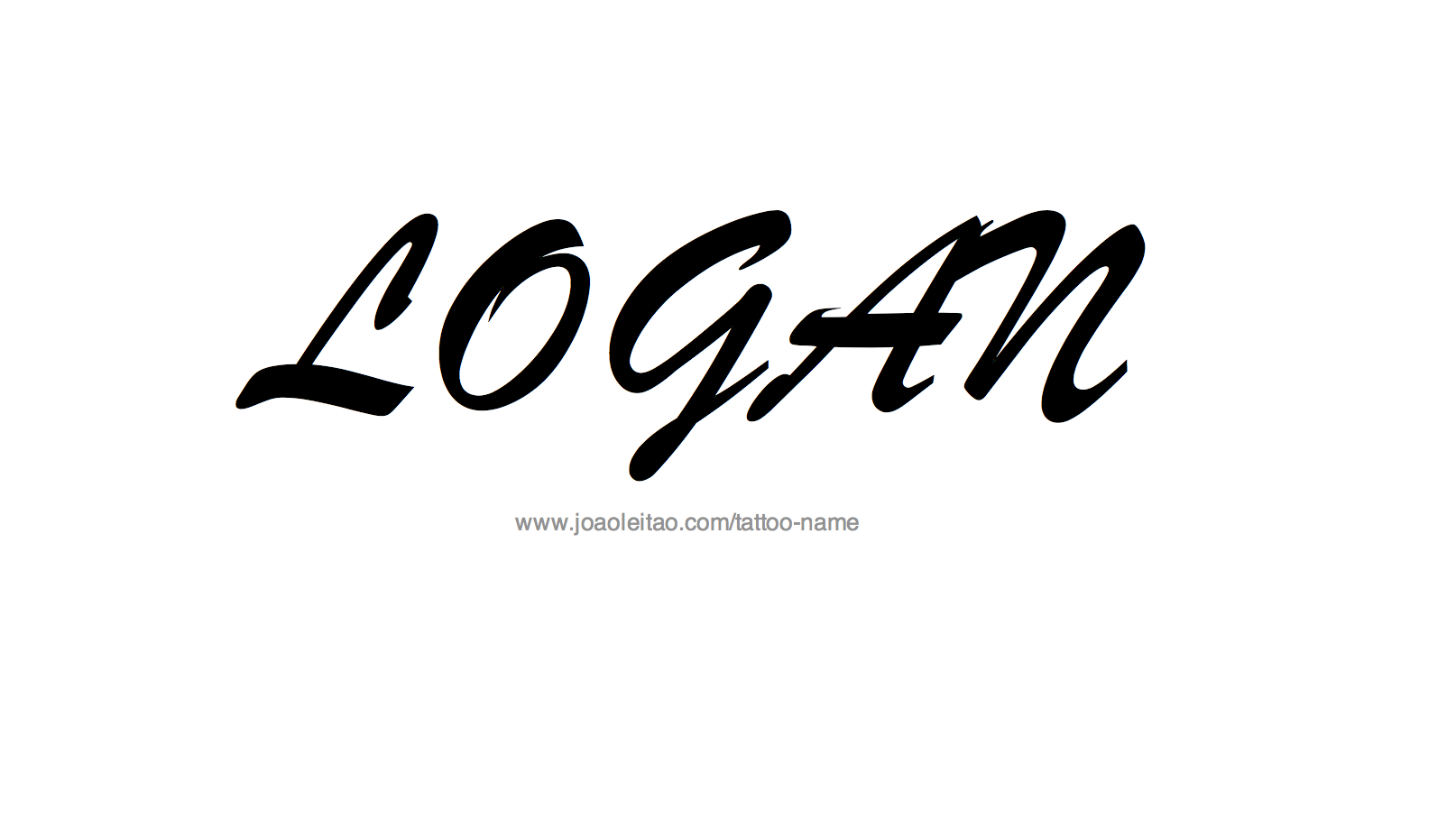 Tattoo Design Name Logan