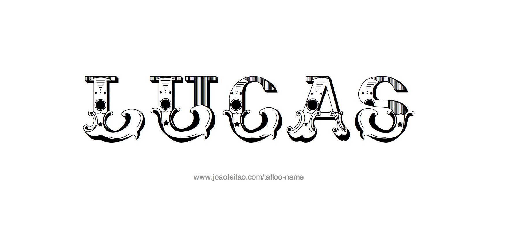 Tattoo Design Name Lucas