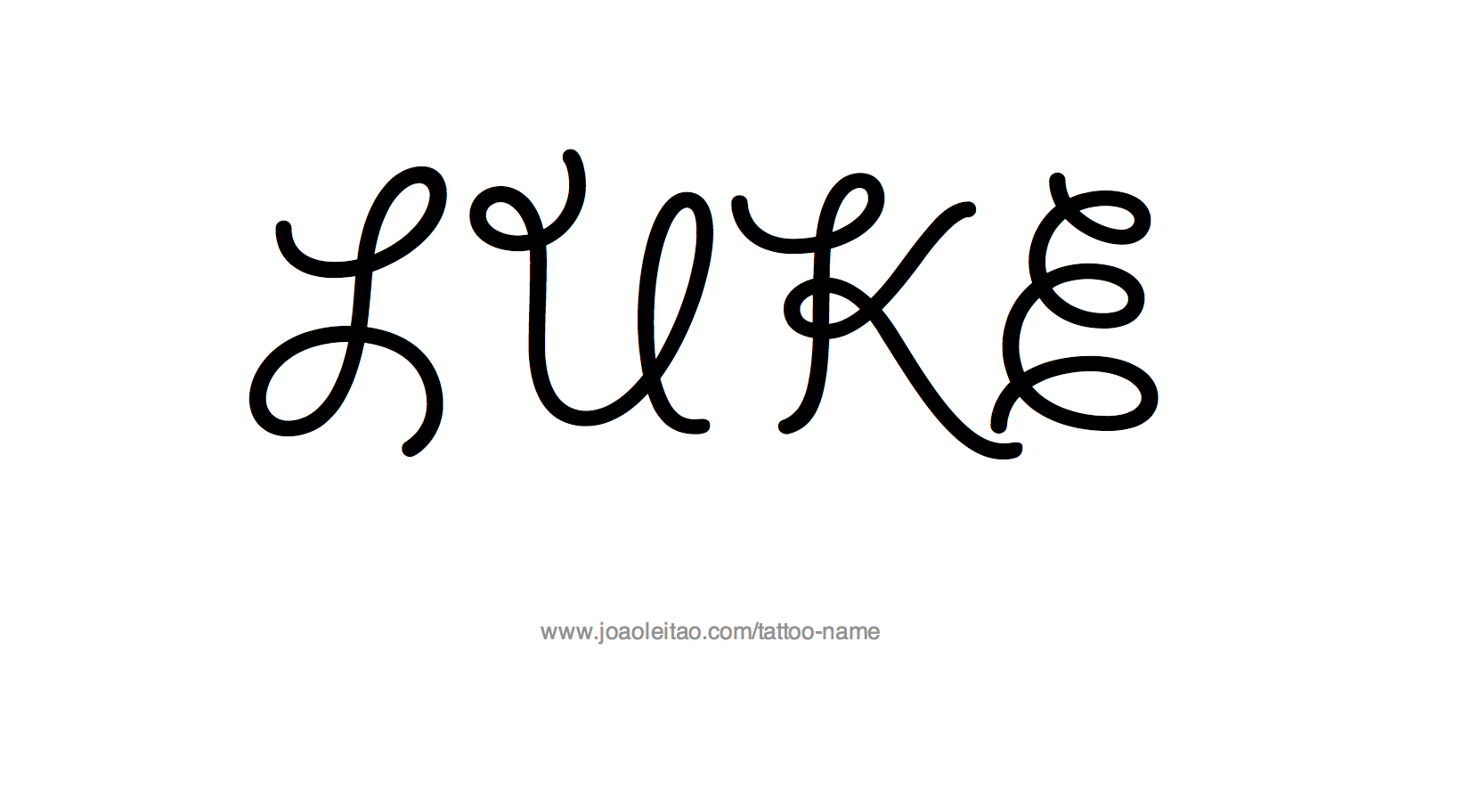 Tattoo Design Name Luke