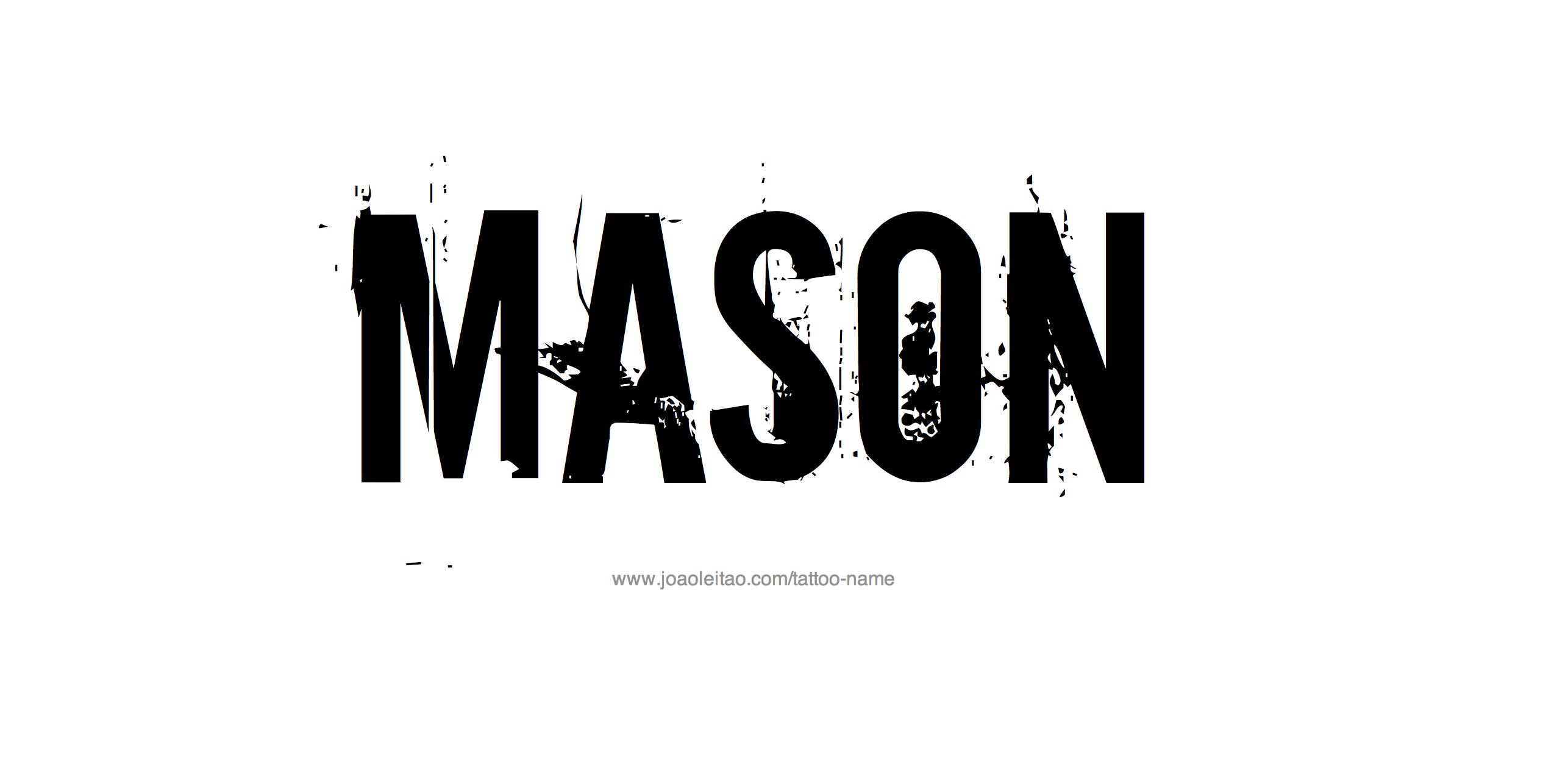 Tattoo Design Name Mason