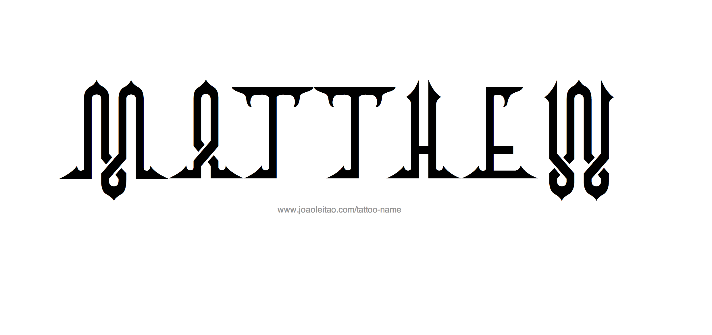 Tattoo Design Name Matthew