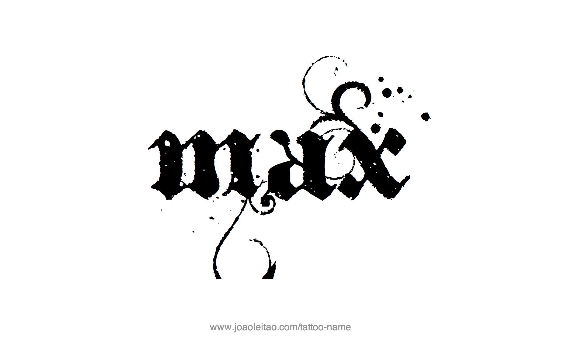 Tattoo Design Name Max