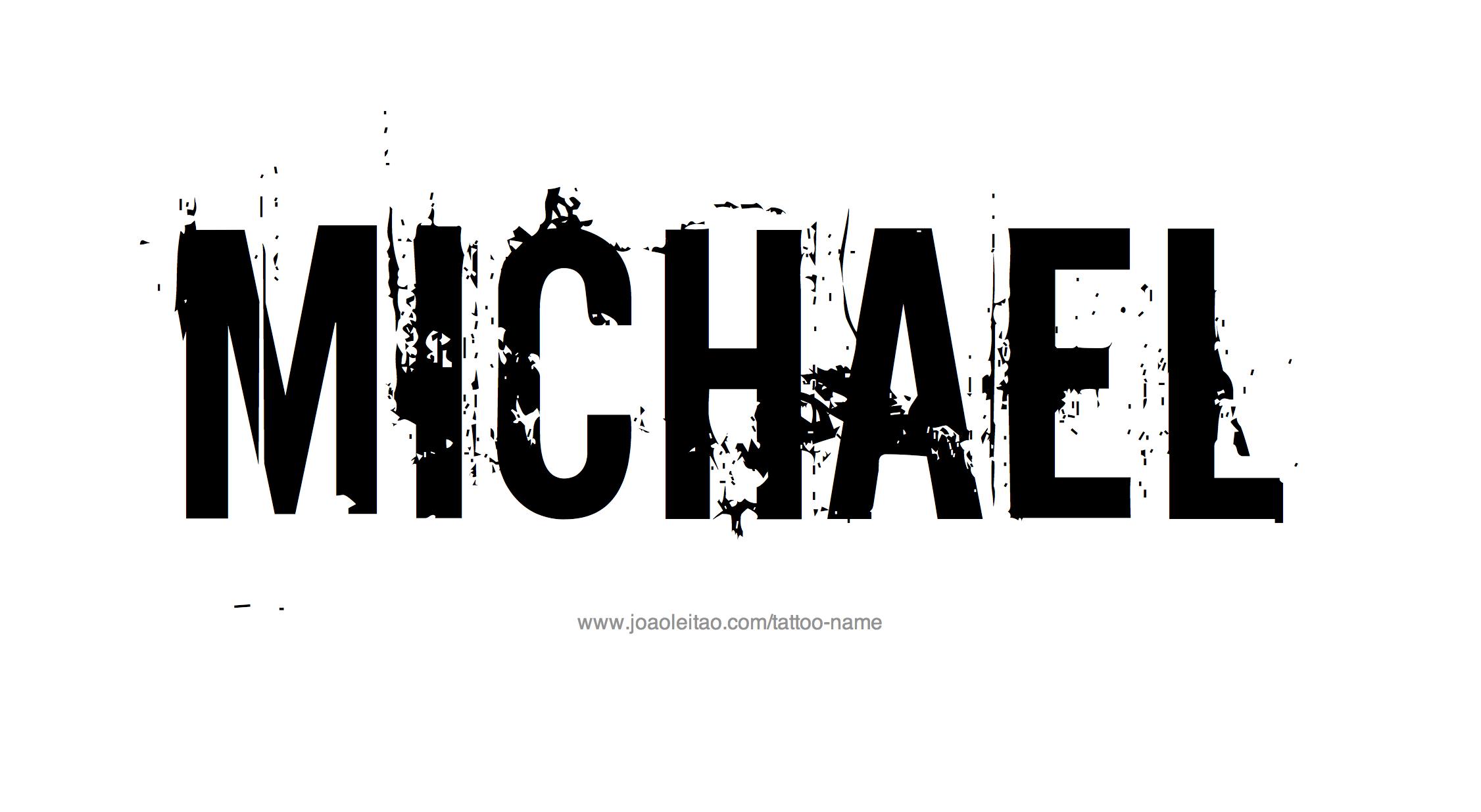 Name: Michael Name Tattoo Designs