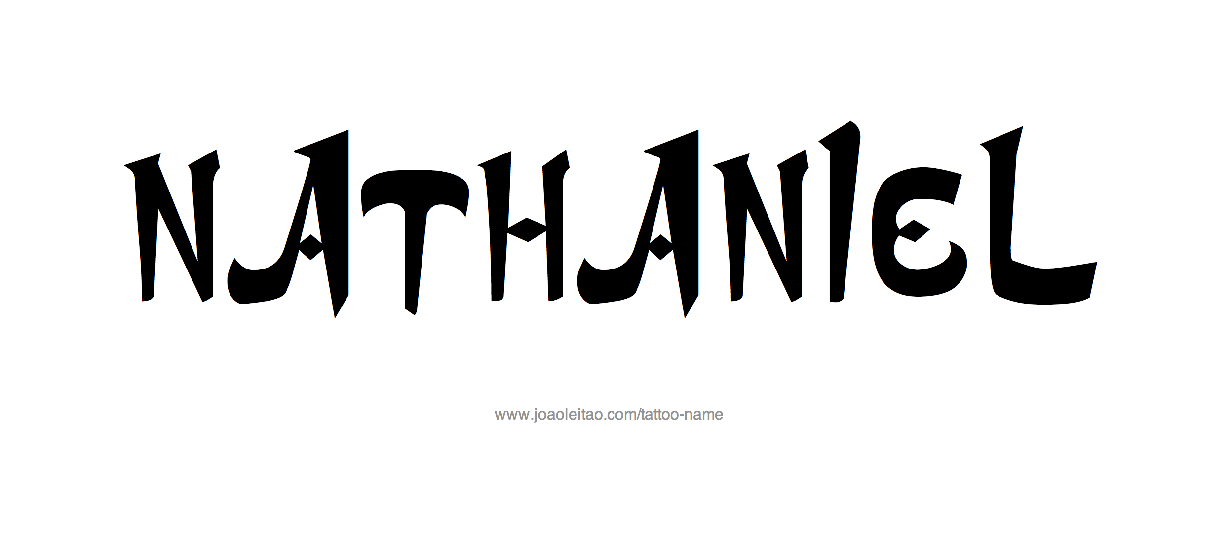 Tattoo Design Name Nathaniel