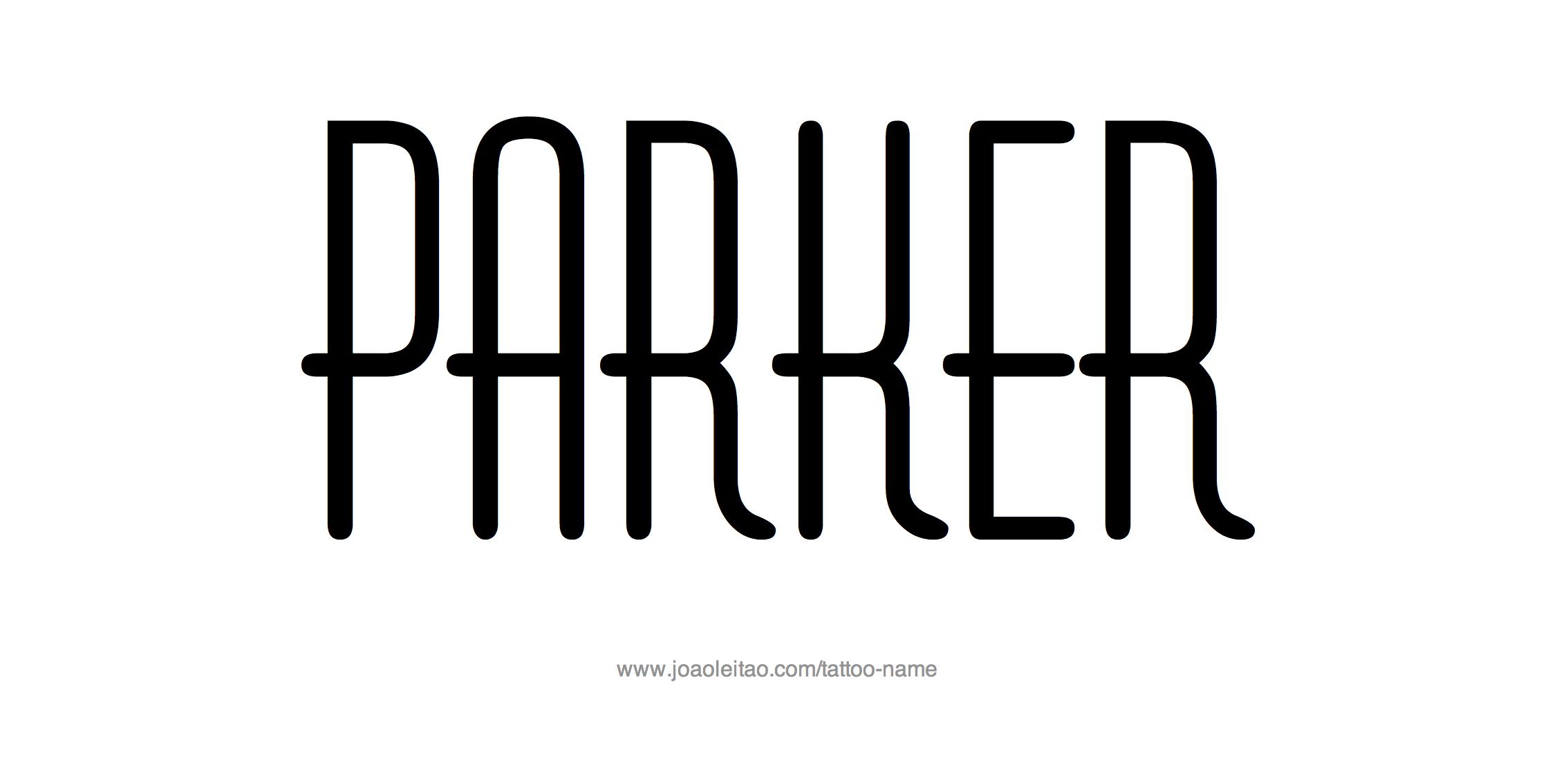 Tattoo Design Name Parker