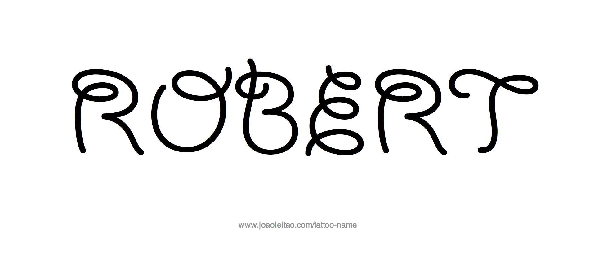 Tattoo Design Name Robert
