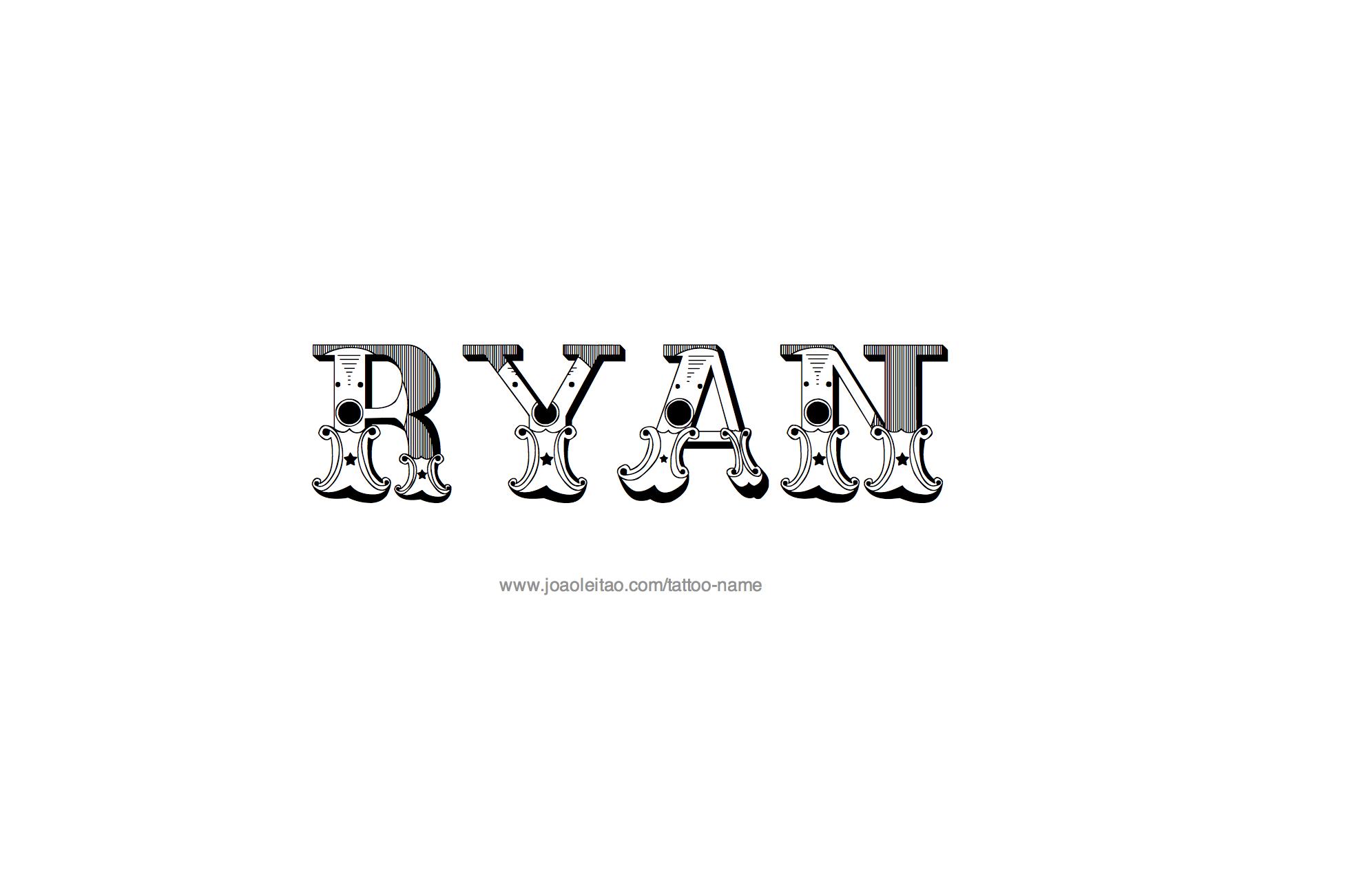 Ryan Name Tattoo Designs