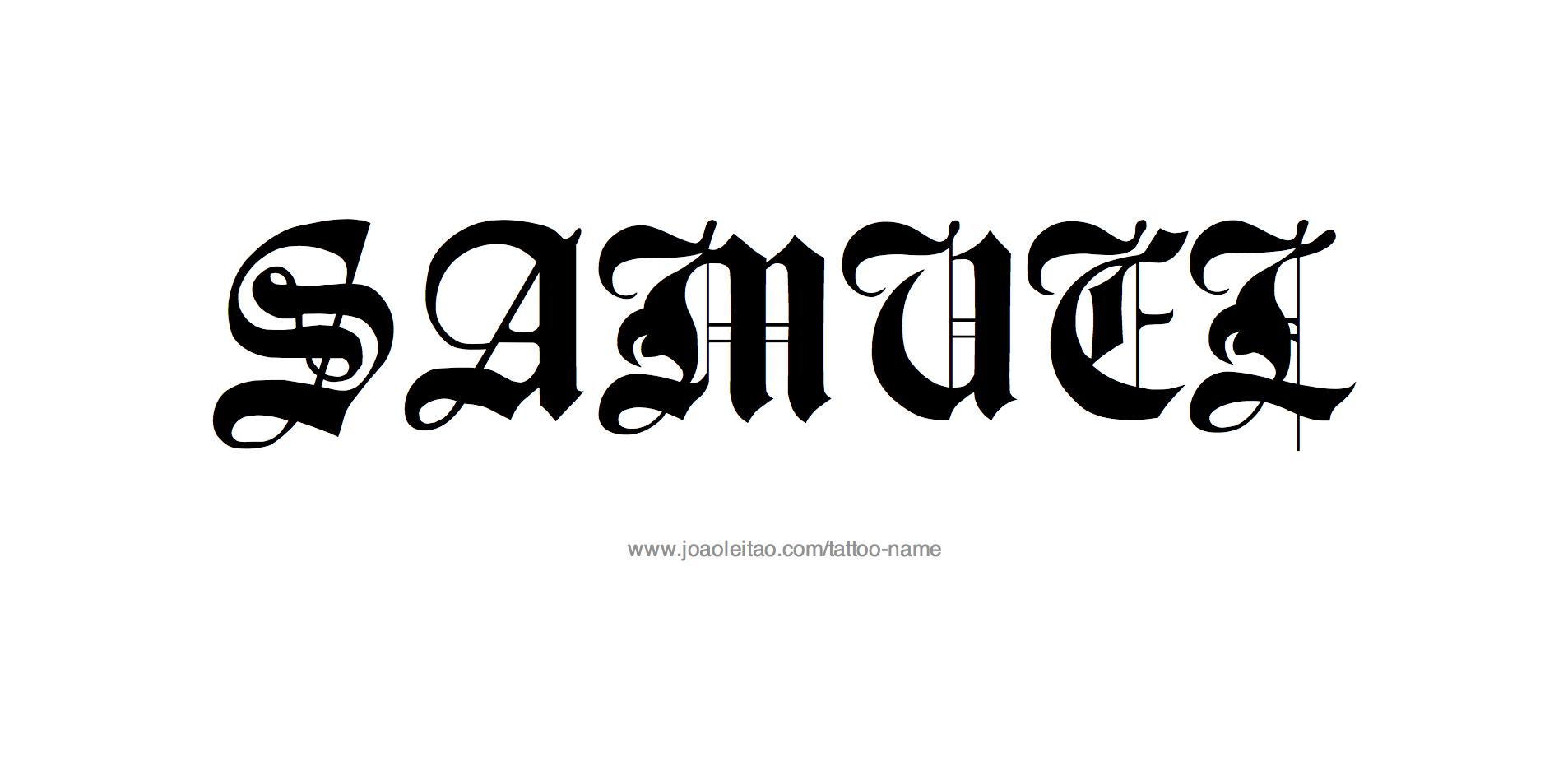 Samuel Name Tattoo Designs