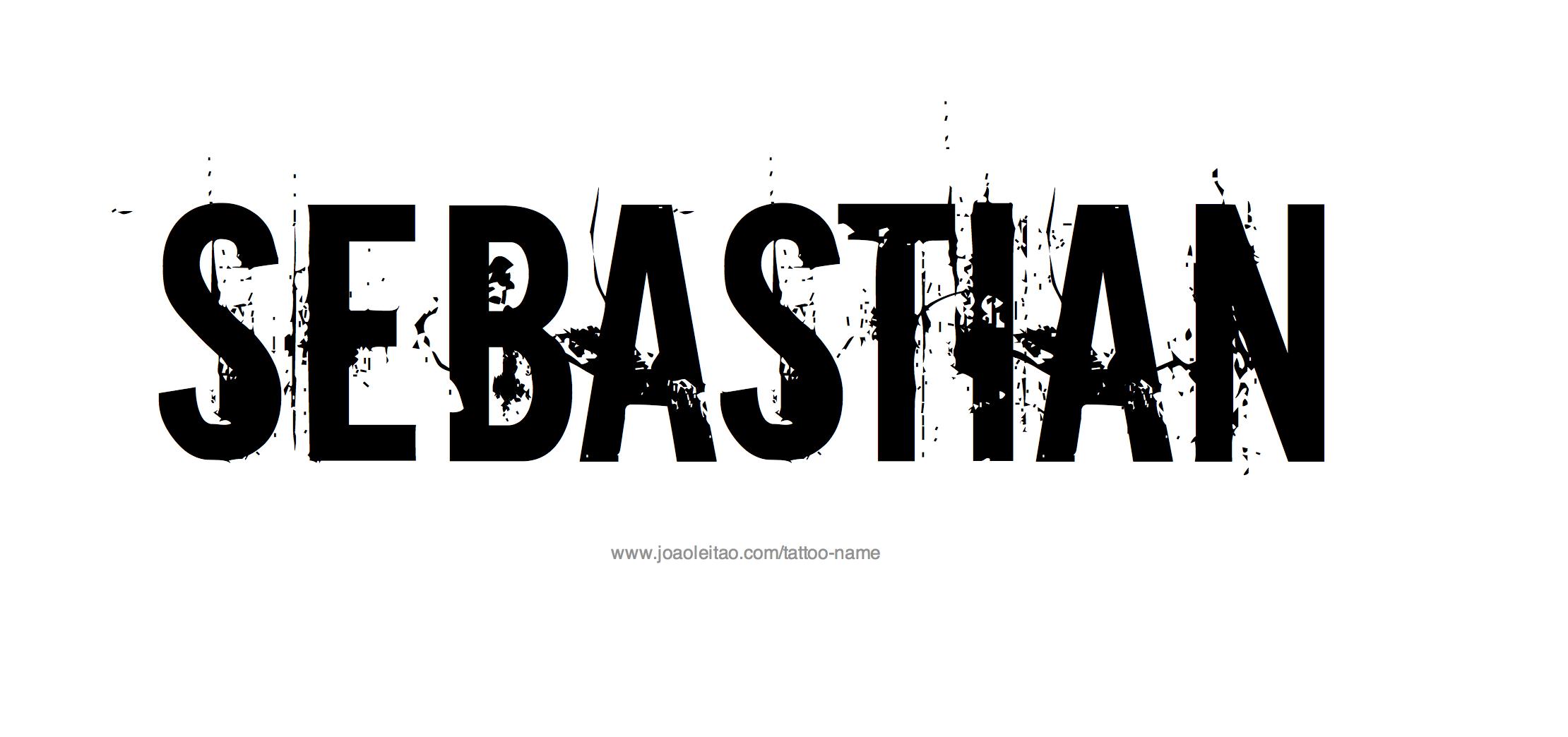 Tattoo Design Name Sebastian