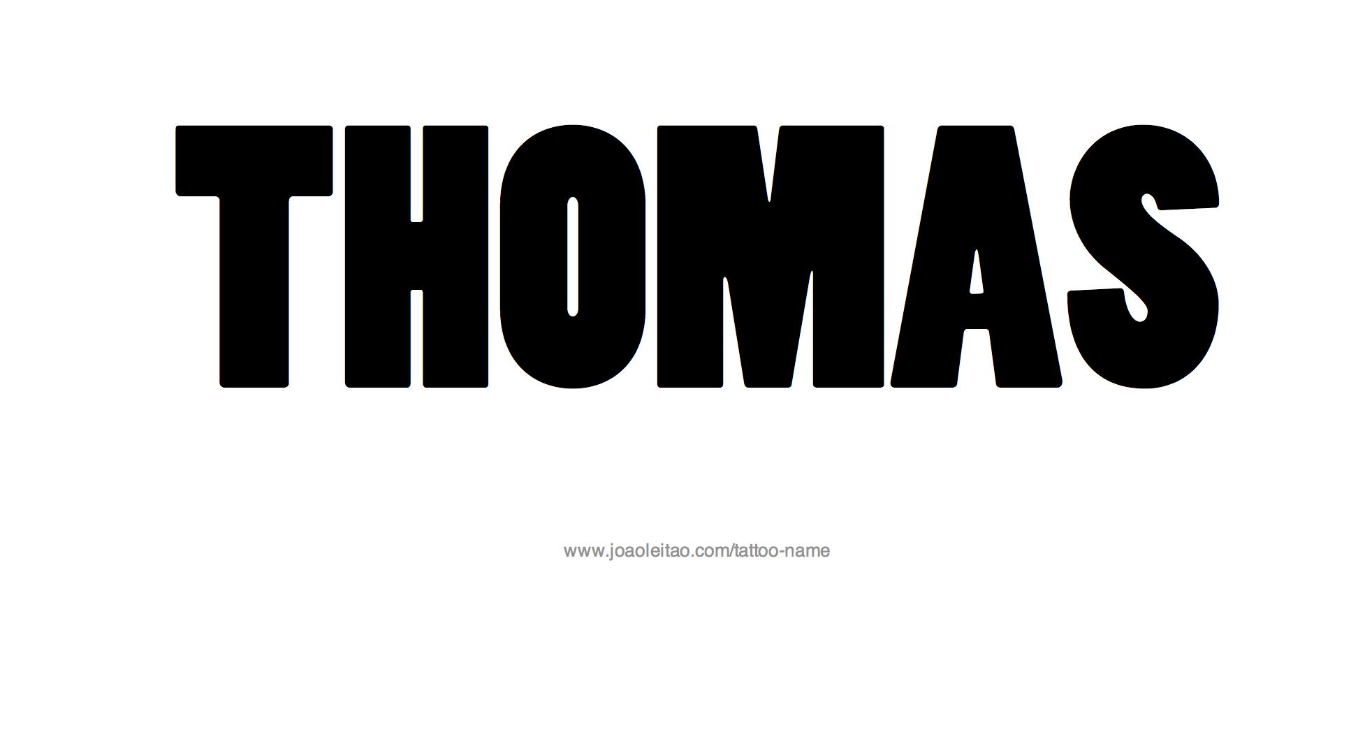 Thomas Name Tattoo Designs