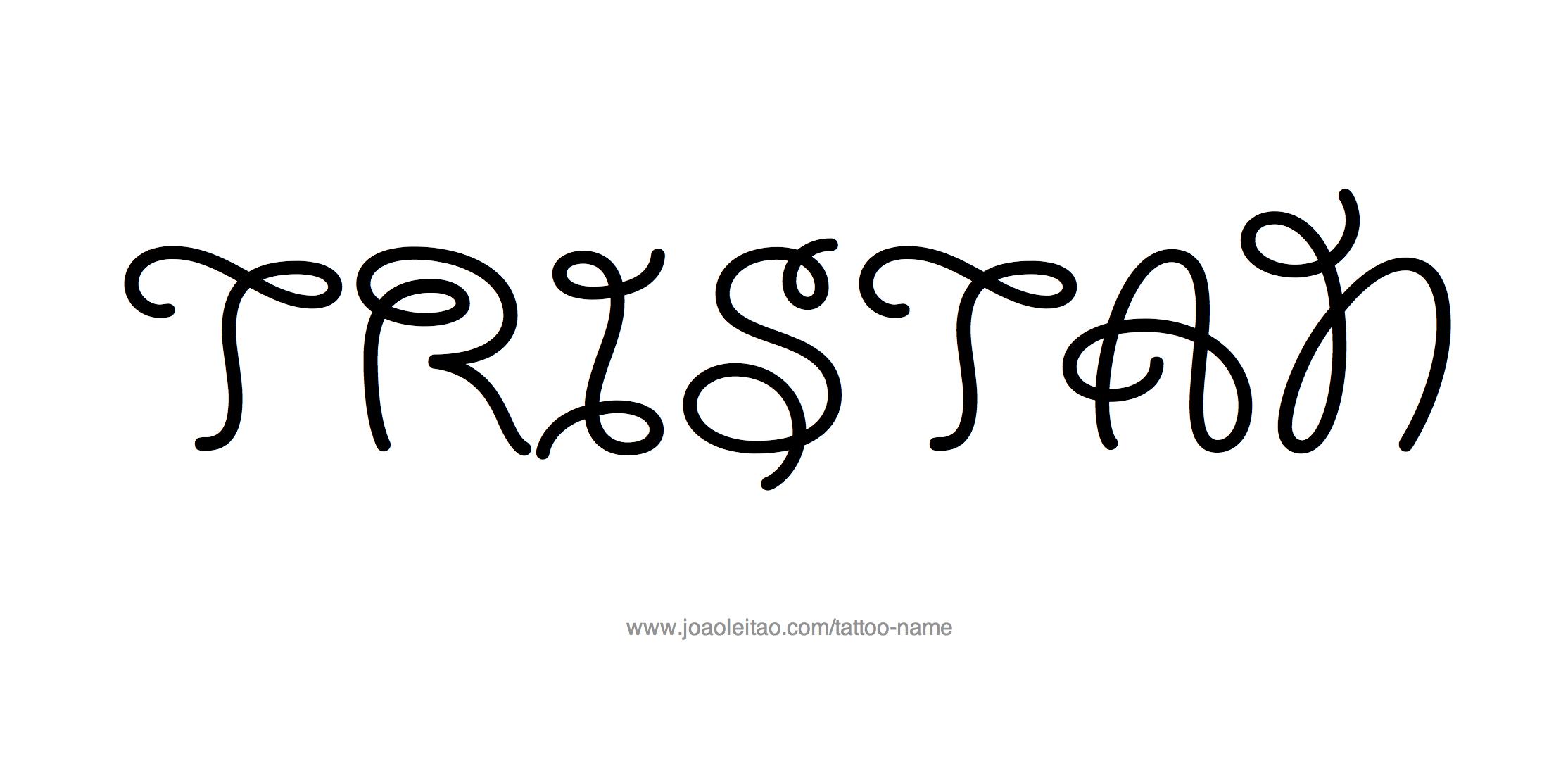 Tattoo Design Name Tristan