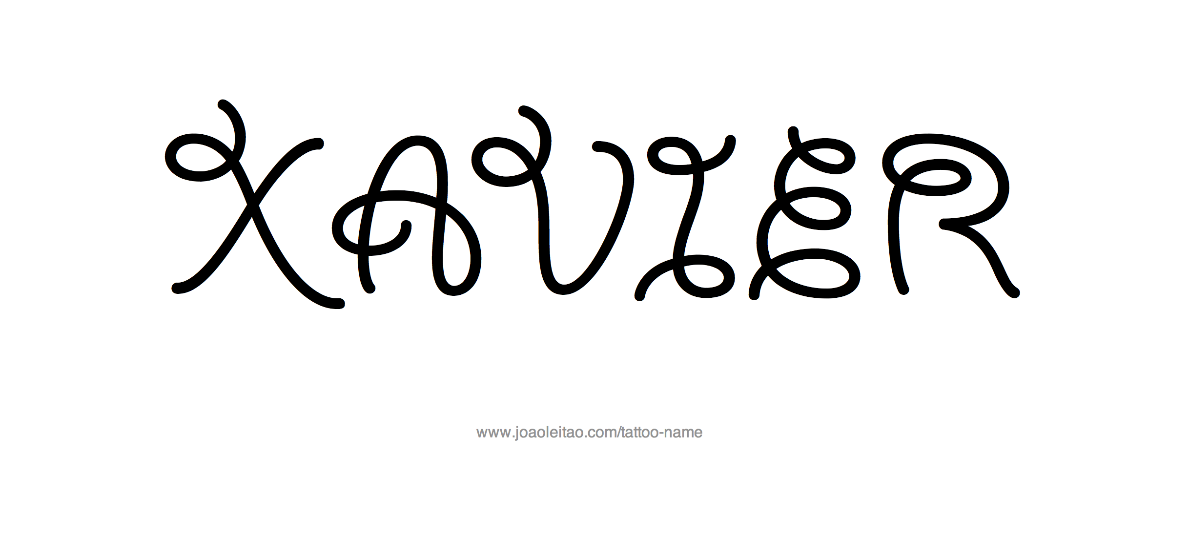 Tattoo Design Name Xavier
