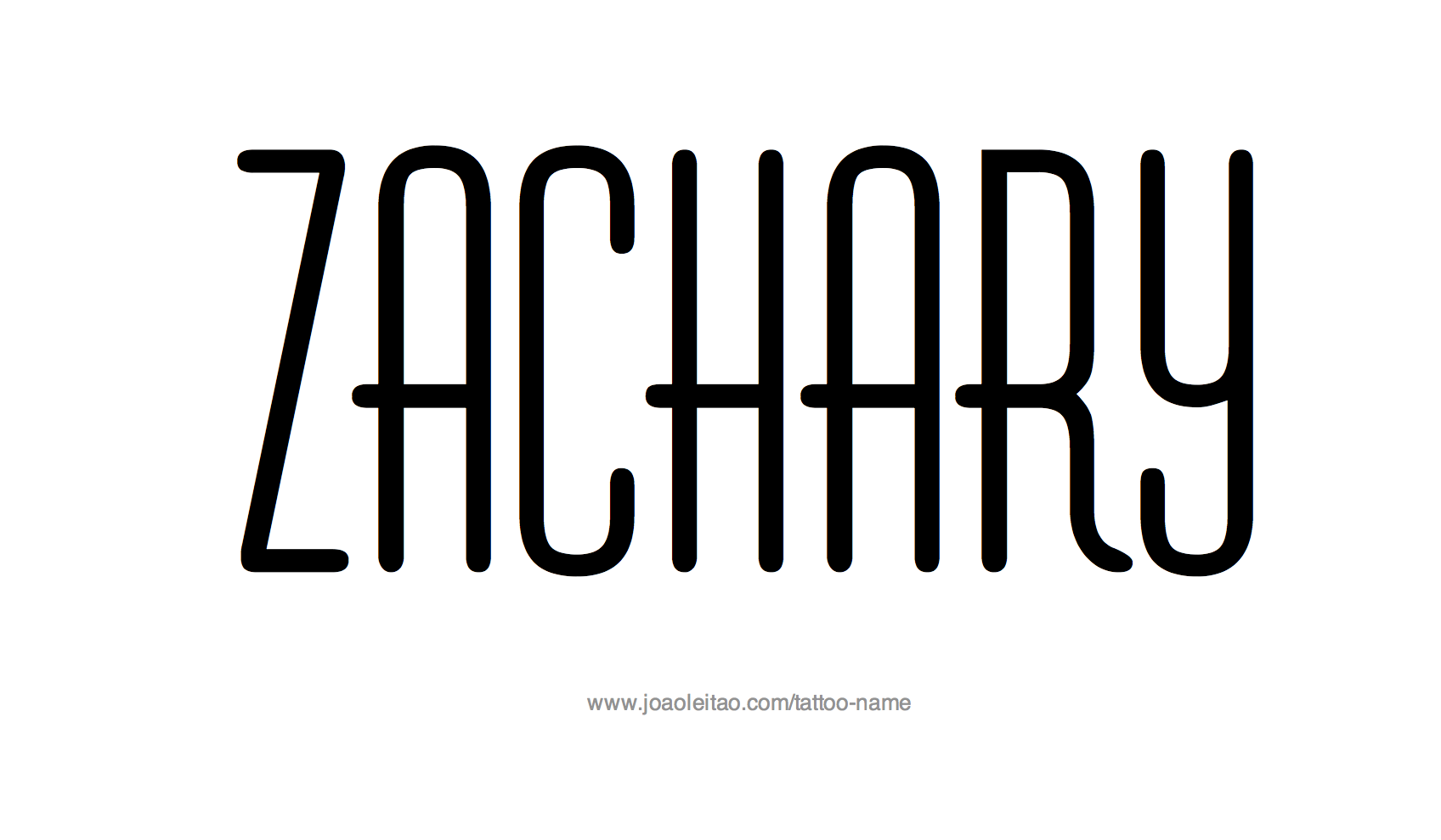 Tattoo Design Name Zachary