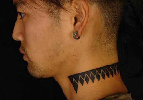 Neck Tattoo for Men - Tribal Tattoo Design Ideas