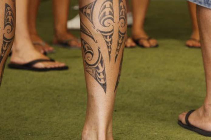 Calves Tattoo for Men - Tribal Calves Tattoo Design Ideas