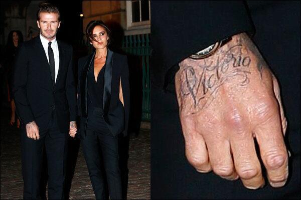 David Beckham Hand Name Tattoo
