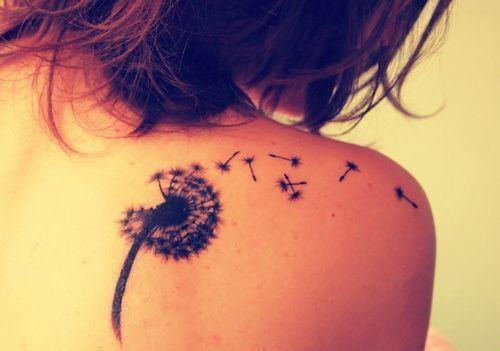 Dandelion Back Shoulder Tattoo Design