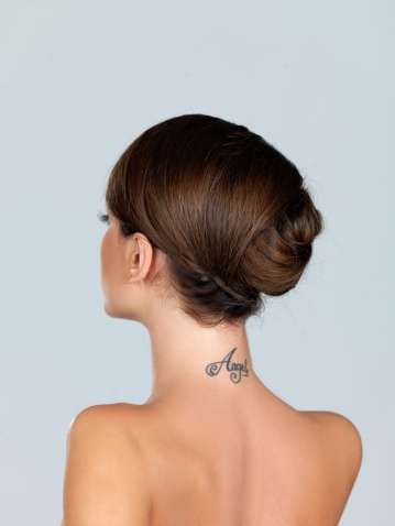 idea for neck tattoo for women