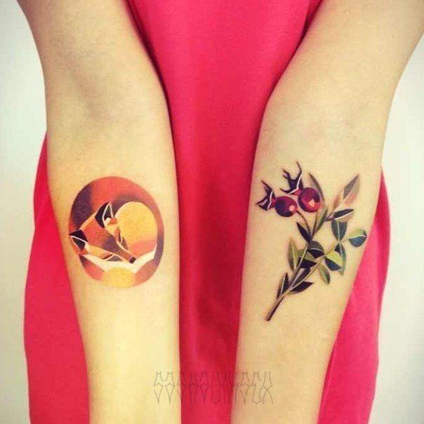 Animal motive forearm tattoo designs for women