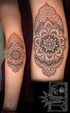 Ornamental arm tattoo designs for girls