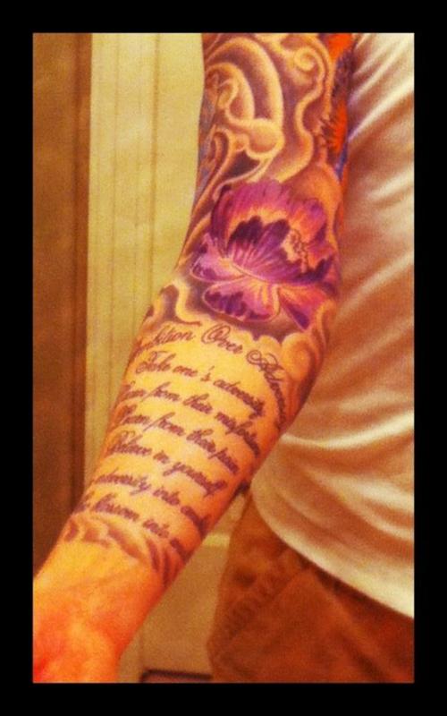 Inner Forearm Text Tattoos: 29 Arm Tattoos Designs For Men