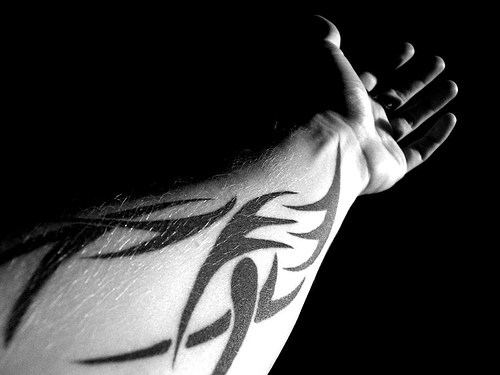 Tribal arm tattoo designs ideas for men