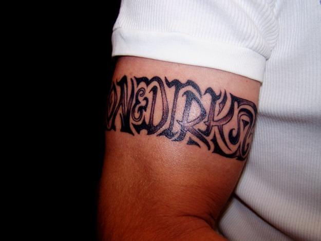 Armband design name tattoo for men