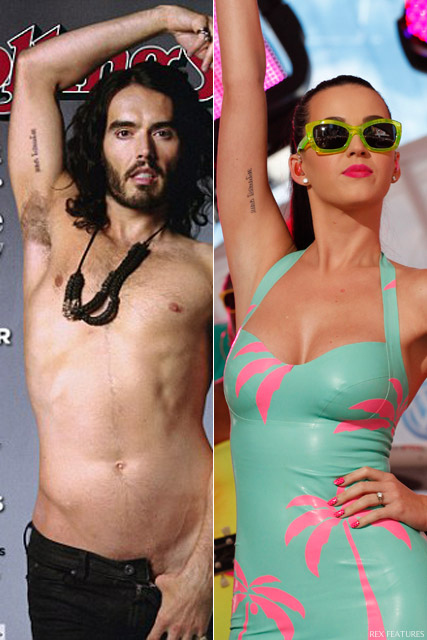 famous couple matching tattoos Katy Perry