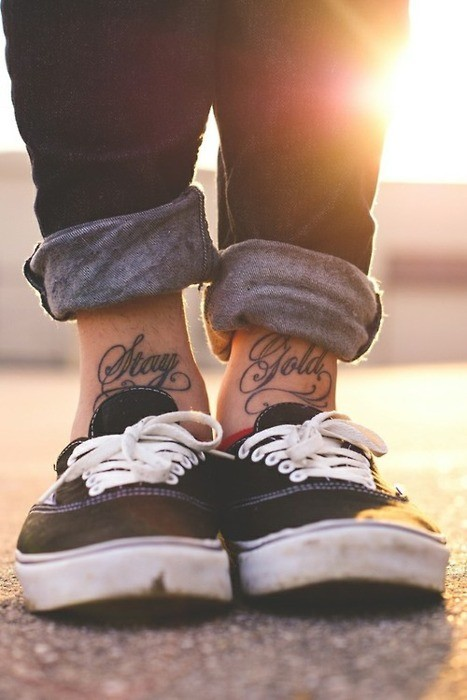 Ankle Tattoo Design with Name