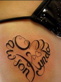 heart shaped names tattoo design on ribs